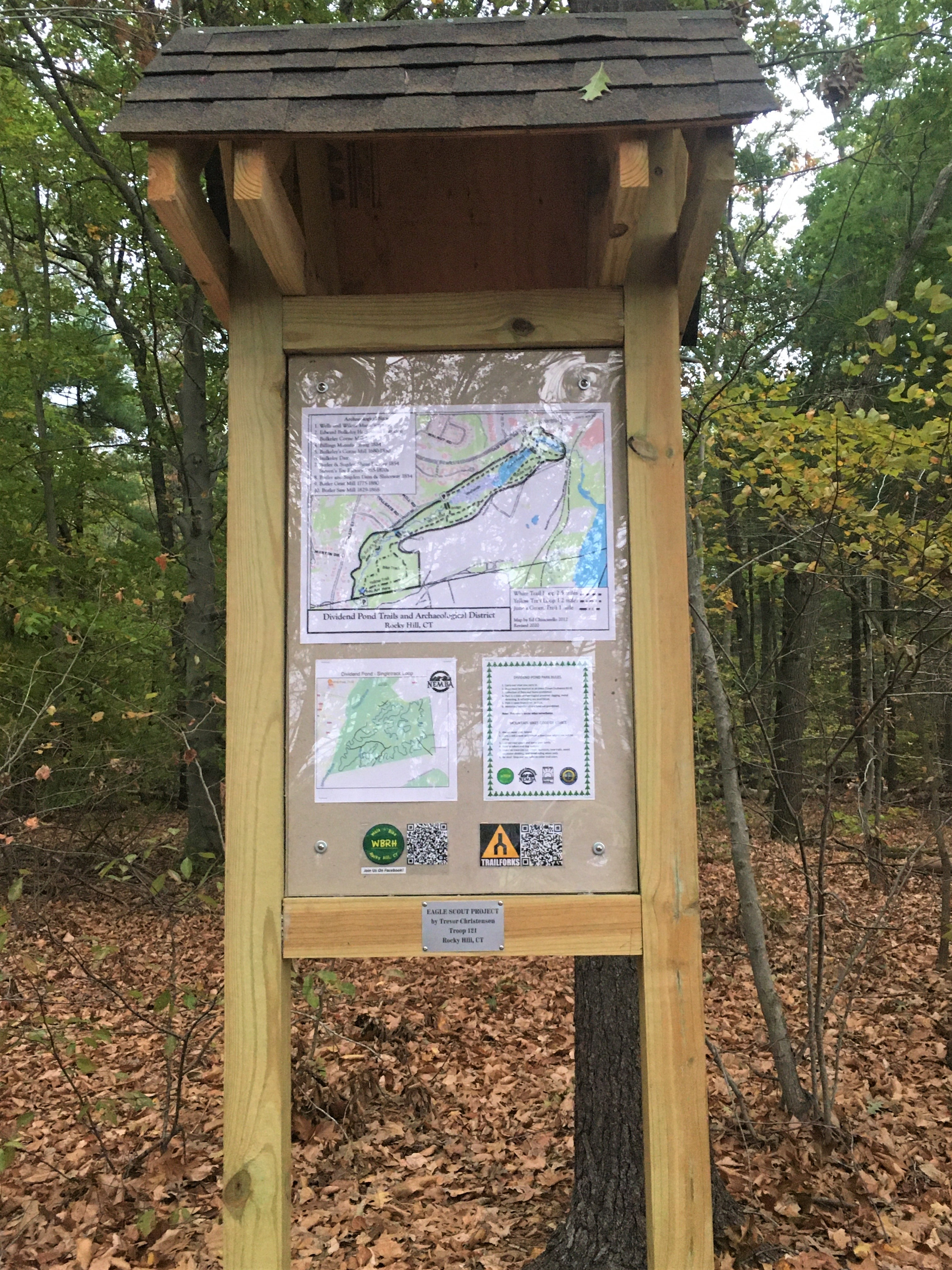 trail map kiosk built by Eagle Scouts